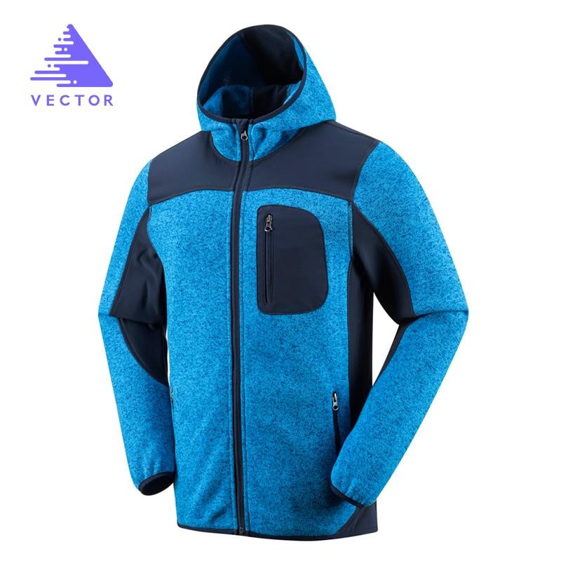 VECTOR Outdoor Jacket Men Thermal Winter Knit Polartec Fleece Warm Camping Hiking Jackets Polar Male Sport Coat 90007 newly hot sale winter military men fleece tactical softshell jacket polartec thermal polar hooded jacket and coat men clot