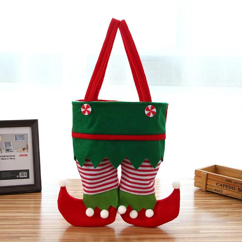 Christmas decoration item Christmas spirit bag new candy bag Santa Claus gift bag holiday party supplies