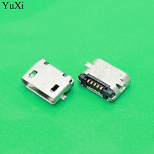 YuXi 5Pin Micro USB 5pin long pin SMD Female connector for mobile phone Mini USB jack PCB welding socket(China)