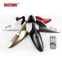 GEETANS 1PCS New Type Auto Car Solar Powered 10 LED Flashing Shark Fin Warning Tail Light