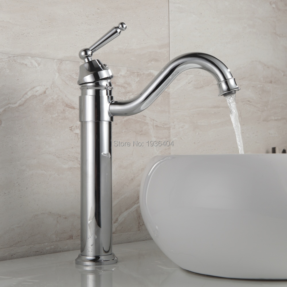 Brass Bathroom Single Handle Mixer Tap Chrome Finished: Hot Selling Bathroom Faucet Chrome Finish Brass Basin Sink