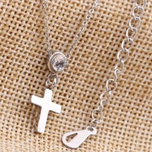 Cross Crystal Pendants Necklaces (2 colors)
