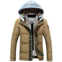2016 новый мужской хлопка мягкой одежды вниз перо подушки Отдых Пункт прилив Тонкий натуральный цвет молодежи пальто