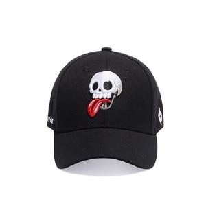 Брендовая дизайнерская бейсбольная кепка, забавная Кепка с вышитым черепом, мужская Кепка в стиле хип-хоп, кепка с вышитым логотипом, летняя...