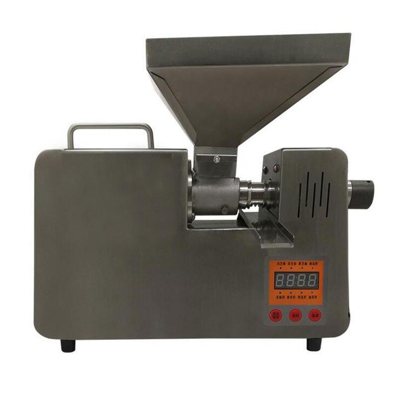 VOSOCO macchina della pressa di Olio In acciaio inox pressa di olio caldo freddo Estratto di olio pressa automatica di fabbricazione 7 kg materie prime/h 1502 W