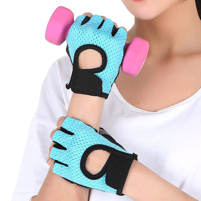 Summer sports fitness gloves women non – slip breathable thin weightlifting yoga horizontal bar cycling gym  equipment training