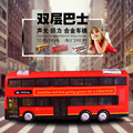 The simulation model car toys,Double-decker tour bus model car,Simulation model of alloy car,Children's toy car.