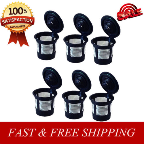 Brand New 6Pcs Eco-friendly Reusable Coffee Filters For K 2.0 1.0 Small Pod Single Refillable Useful Kitchen Coffeeware