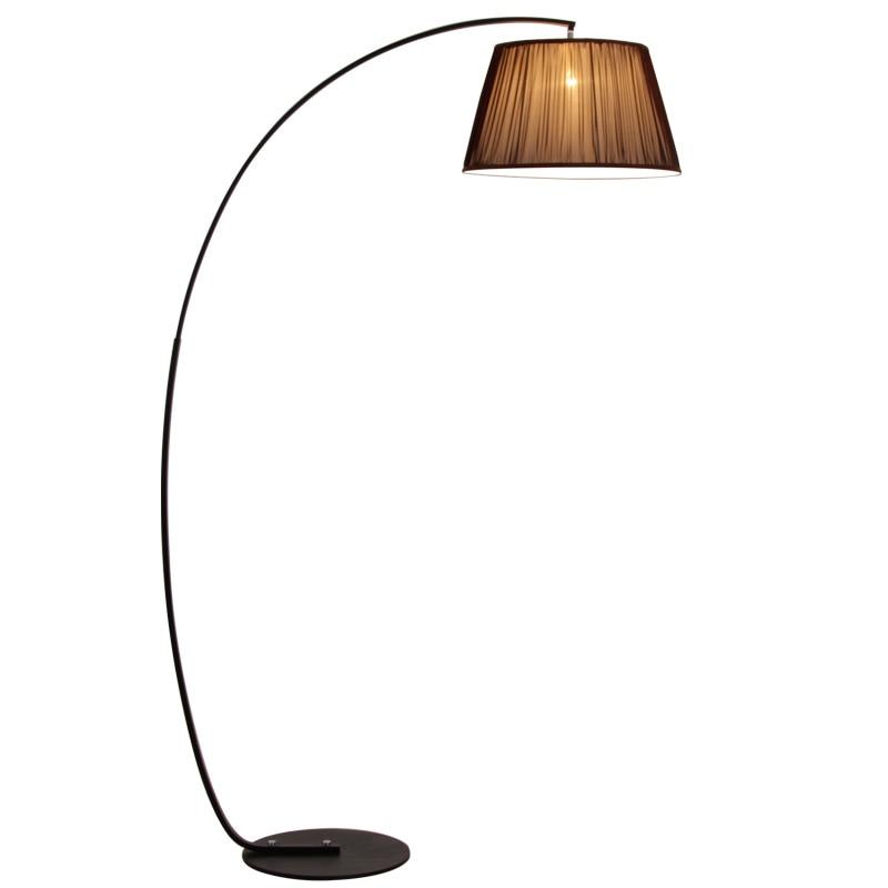Pós moderno simples luz de assoalho preto branco lâmpada chão metal pé luz para sala estar quarto minimalis luminária e27