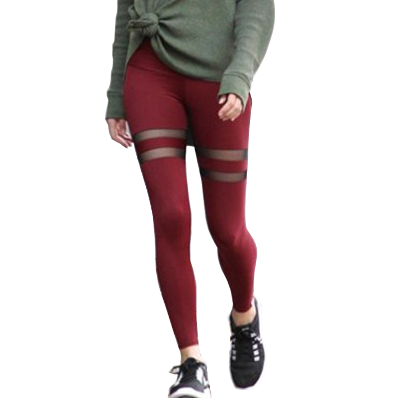 Soild Mesh Patchwork Women Fitness Leggings Workout Sexy Sporting Women Leggings Breathable Quick Dry Female Pencil Pants|leggings workout|women leggings|sport women legging - title=