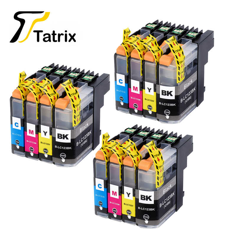 12PK untuk Brother LC123 Ink Cartridge Kompatibel untuk MFC-J4510DW MFC-J4610DW Tinta Printer Cartridge LC 123 MFC-J4410DW J4710DW