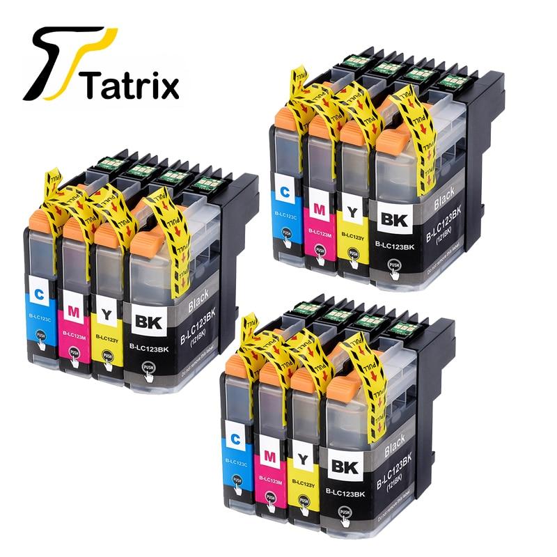 12PK для Brother LC123 картридж совместимый для MFC-J4510DW MFC-J4610DW картридж с чернилами для принтера LC121 MFC-J4410DW MFC-J4710DW