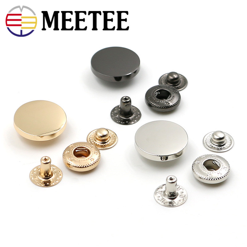 50 set/pack Zinc alloy  Snap Fasteners Press Button Stud sewing accessories for overcoat press button stud