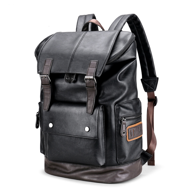 d4ea710a11 Large Capacity Men s Leather Laptop Backpack Male Luggage Bag Casual School Bags  Men Daypacks Leather Travel