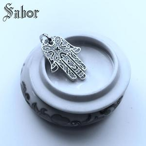 Image 5 - Pendant Hand of Fatima silver color For Women & Men Gift Jewelry Pendant Fit Necklace thomas