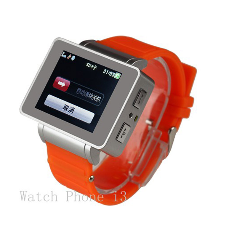 1.8 Inch Smart Watch Phone i3 Camera, Flashlight, MP3 MP4, FM Radio Can Connect BT Headset , Multilanguages, Fashion Smartwatch