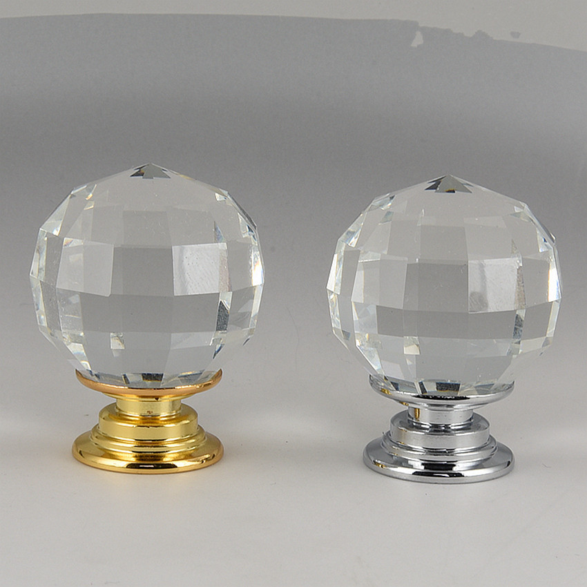 30mm grid clear glass crystal drawer tv table wine cabinet knobs pulls silver gold diamond head cupboard dresser door handles 33mm glass kitchen cabinet handles clear crystal drawer knobs silver tv table dresser cuoboard furniture door pulls knobs