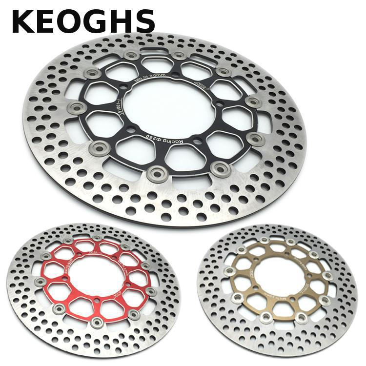 KEOGHS Motorcycle Brake Disc/brake Rotor Floating 260mm Diameter For Yamaha Scooter Bws Cygnus Front Disc Replace Modify keoghs motorcycle hydraulic brake system 4 piston 100mm hf2 brake caliper 260mm brake disc for yamaha scooter cygnus x modify