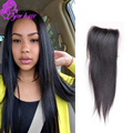 8A soft Peruvian Straight Lace Closure 100% Virgin Human Hair 4X4 Top Swiss Lace Closure With Bleached Knots Free/Middle Part