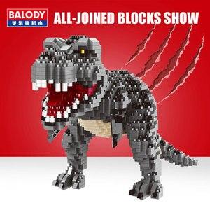 Image 2 - Balody Dinosaur Tyrannosaurus Rex Velociraptor Animal Monster 3D Model DIY Diamond Mini Building Blocks Toy for Children no Box
