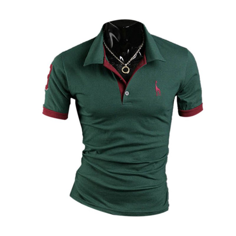 4253885fb045 Summer Men Shirt Short Sleeve Classic Solid Slim Tops Men Fashion Shirt  Plus Size-in Polo from Men s Clothing on Aliexpress.com
