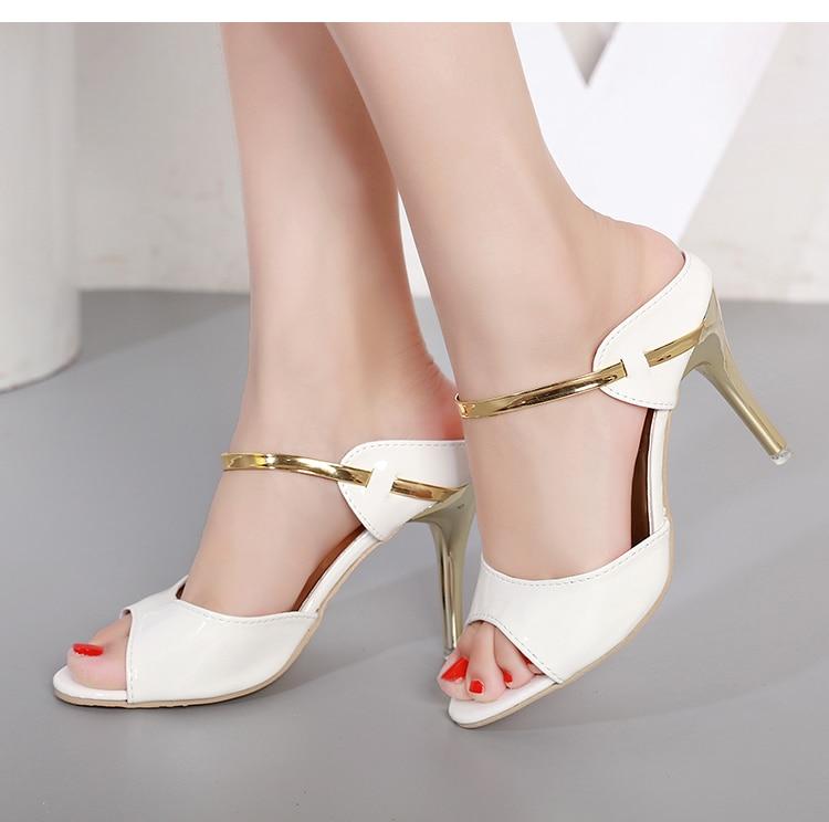 LAKESHI Summer Women Pumps Small Heels Wedding Shoes Gold Silver Stiletto High Heels Peep Toe Women Heel Sandals Ladies Shoes 18