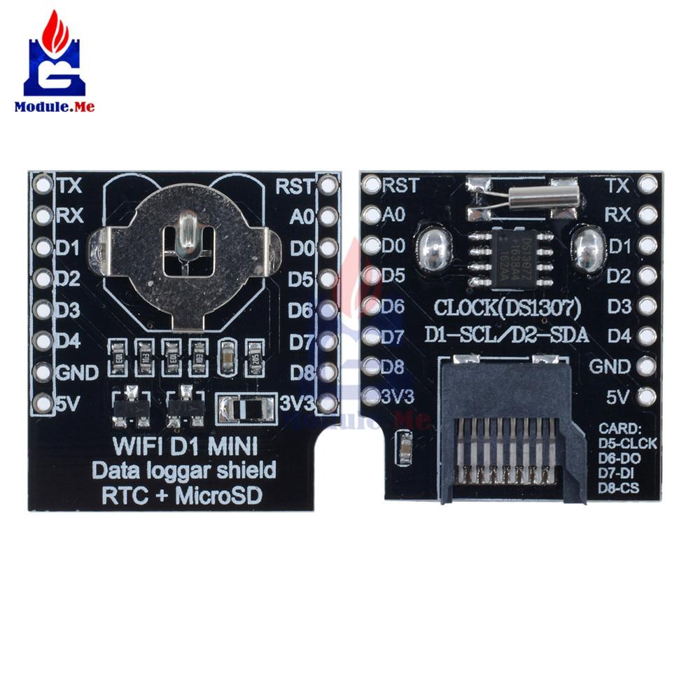 Micro SD for Wemos D1 Mini Data Logger Shield RTC DS1307 Clock for Arduino Raspberry Pi
