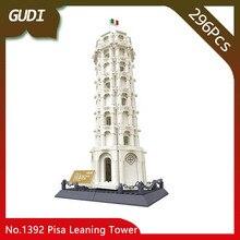 Doinbby Store 1392 296Pcs Street View Series Leaning Tower of Pisa Model Building Blocks set Bricks Children For Toys Wange Gift
