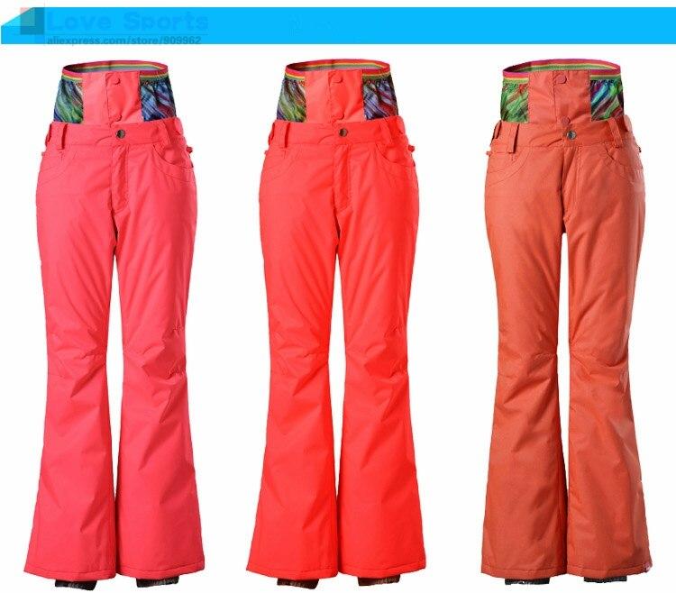 ФОТО GsouSnow Fashion Women Ski Pants Snow Pants Waterproof Windproof Breathable Snowboard Pants Optional Nine Colors Models 025