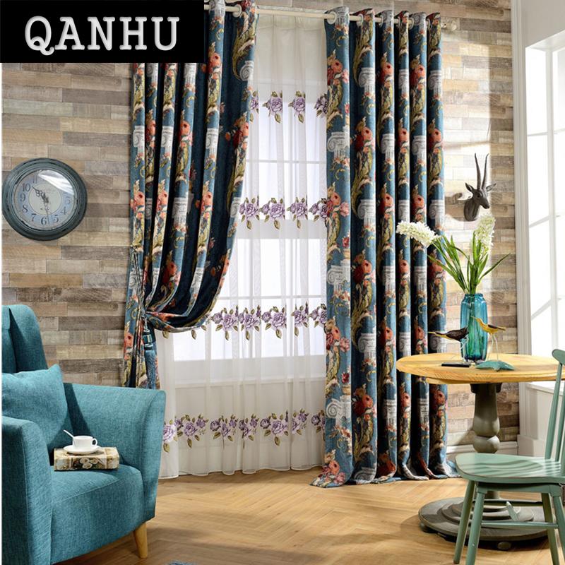 qanhu profesin marca patrn del cortina de estilo moderno diseo para cuarto oscuro de algodn