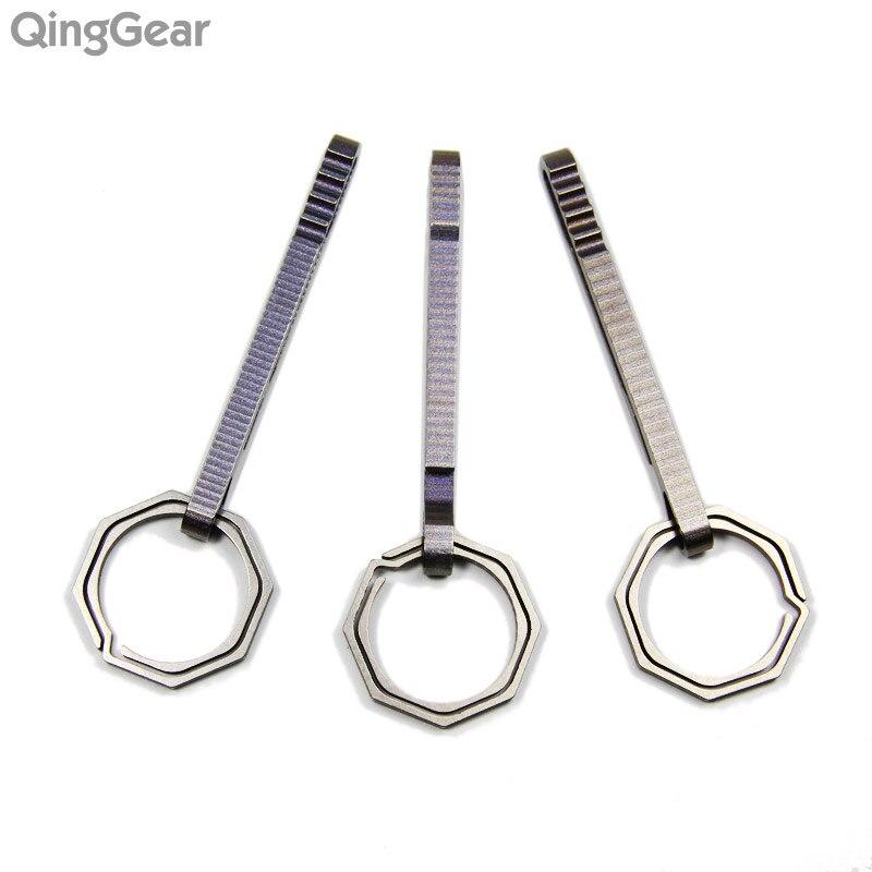 3SETS QingGear KeyRing1+ HangClip Titanium Split Key