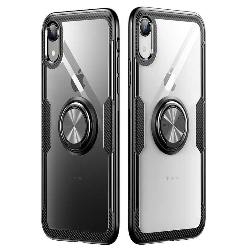 รถผู้ถือแหวนกรณี IPhone XS Max XR X สำหรับ IPhone XR X XS Max กันชนซิลิโคนอ่อน
