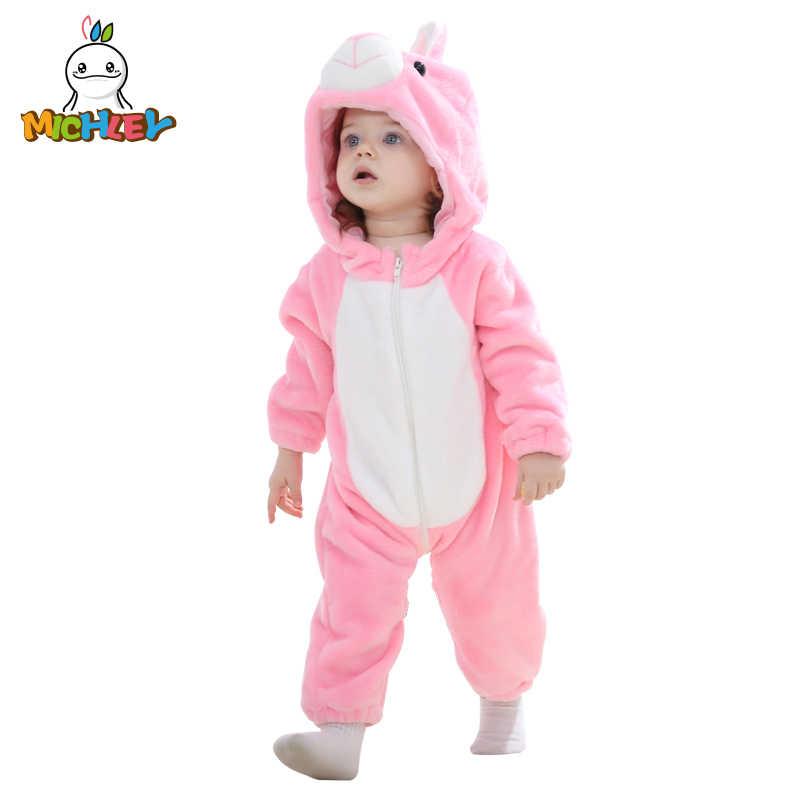 MICHLEY Lente Herfst Baby Kleding Flanel Baby Jongens Kleding Cartoon Dier Jumpsuits Baby Meisje Rompertjes Baby Kleding XYZ15088