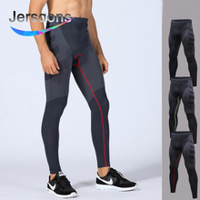 цена на Jersqons Men Compression Leggings Running Tights Sports Tights Crossfit Gym Clothing Fitness Compression Pants