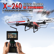 New Up to 200M 5.8G FPV monitor Professional RC Drone X26 4CH 6-Axis Gyro RTF RC Quadcopter Headless Mode one key Return RC Toys