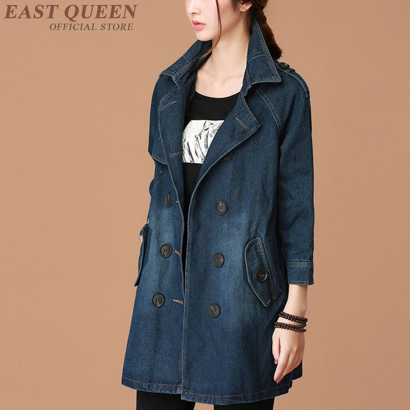 Jean   jacket   2018 women female long sleeve autumn winter   basic     jackets   coat fashion blue ladies women denim   jacket   DD1229