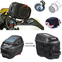 Motorcycle Strong Magnet or Tanklock Quick Release 23L Tank Bag,with Expandable Waterproof Backapck bags for Suzuki