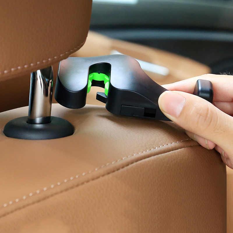 Universel 1 paire voiture appuie-tête crochet voiture siège arrière cintre avec support pour téléphone pour sac à main sac à main sac à main épicerie tissu voiture accessoires