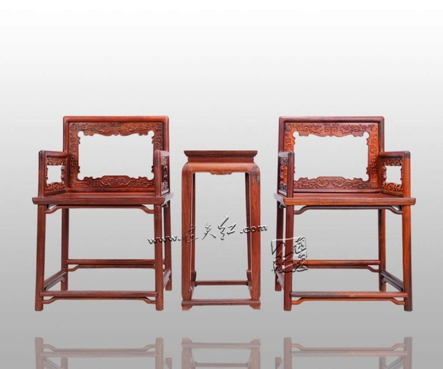 office furniture set classical 2 chairs and 1 tea table rose wood