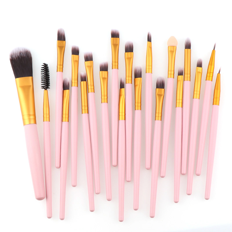 20 Pcs High Quality Pink Gold/Pink Silver Professional Cosmetic Eye Brush Set Foundation Eyeshadow Brush For Makeup Tools 3d ручка funtastique neo gold pink