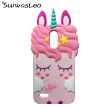 For LG Stylo 3 / Stylo 3 Plus 3D Cartoon Case Unicorn Soft Silicone Phone Back Cover For LG G4 Stylus 3 LS777 / K10 Pro Shells стоимость