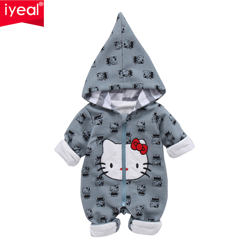 IYEAL 2018 Spring Autumn Long Sleeved Romper Baby Clothes Toddler Infant Newborn Cute Hello Kitty Baby Girl Jumpsuit Overalls baby girl clothes romper hello kitty jumpsuit kids clothes newborn conjoined creeper gentleman baby costume dress 3pcs new 2016