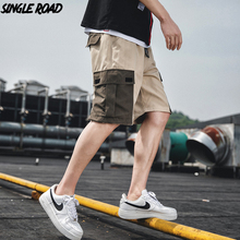 SingleRoad Cargo Shorts Men Hip Hop 2019 Summer Streetwear Bermuda Pockets Fashion Knee Length Joggers Casual Short Pants Men