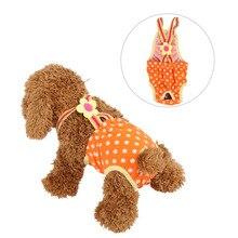 Dots Pet Large Dog Diaper Sanitary Physiological Pants Washable Female Dog Shorts Panties Menstruation Underwear Briefs XXS-XL