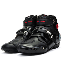 Motorcycle Boots PRO-BIKER High Ankle Racing boots BIKERS leather race Motocross Motorbike Riding boots Shoes Cycling shoe