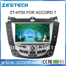 ZESTECH car dvd with gps for honda accord 7 support single and dule zone + gps+ipod+original air condition support+TV all in one
