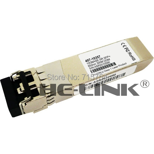 New 407-10357 - Dell Compatible 10GbE SR SFP+, 850nm, LC, 300m, MMFNew 407-10357 - Dell Compatible 10GbE SR SFP+, 850nm, LC, 300m, MMF