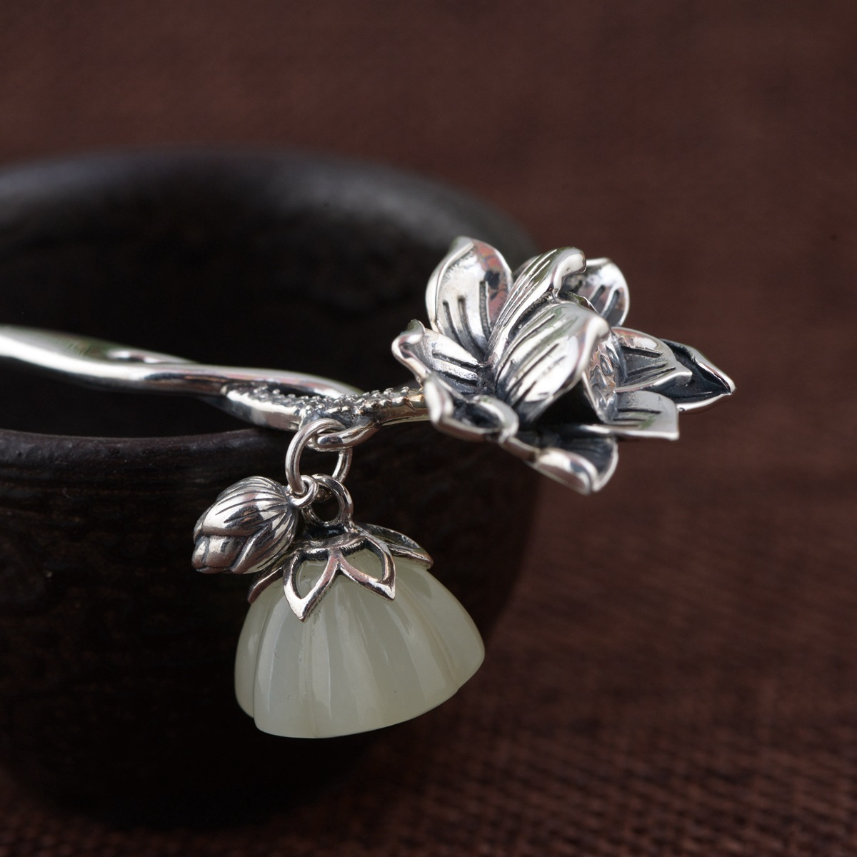 Lotus Thai Silver Hair Stick Vintage Dangle Silver Chinese Hairpin Flower Hair Fork Hair Jewelry Hair Accessories WIGO1152 летняя шина kumho ecowing es01 kh27 195 60 r15 88h