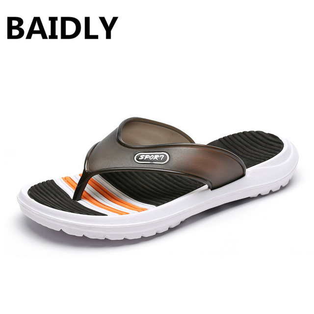 b0293b132f3b81 BAIDLY Mens Flip Flops Summer Men s New Style Beach Water Shoes Outdoor  Beach Men s Slippers Massage Men Footwear