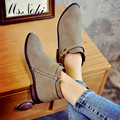 2016  hot sale autumn new fashion zip black ankle boots women round toe flat solid  ankle boots comfortable woman wedging shoes